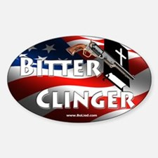 Bitter Clinger Oval Decal Decal