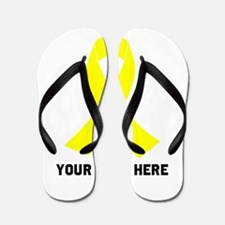 Yellow Ribbon Awareness Flip Flops