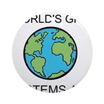 Worlds Greatest Systems Analyst Ornament (Round)