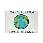 Worlds Greatest Systems Analyst Rectangle Magnet (