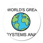 Worlds Greatest Systems Analyst Round Car Magnet