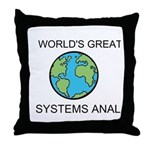 Worlds Greatest Systems Analyst Throw Pillow