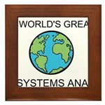 Worlds Greatest Systems Analyst Framed Tile