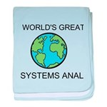 Worlds Greatest Systems Analyst baby blanket