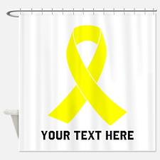 Yellow Ribbon Awareness Shower Curtain