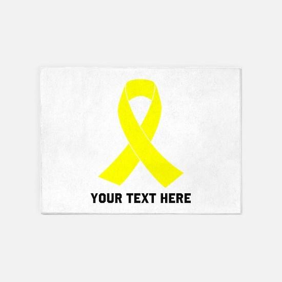 Yellow Ribbon Awareness 5'x7'Area Rug