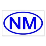 NM Oval - New Mexico Rectangle Sticker