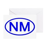NM Oval - New Mexico Greeting Cards (Pk of 10)