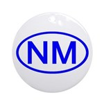 NM Oval - New Mexico Ornament (Round)