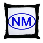 NM Oval - New Mexico Throw Pillow