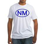 NM Oval - New Mexico Fitted T-Shirt