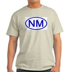 NM Oval - New Mexico Ash Grey T-Shirt