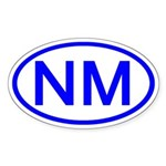 NM Oval - New Mexico Oval Sticker