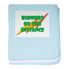 Runners Go the Distance baby blanket