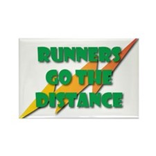 Runners Go the Distance Rectangle Magnet