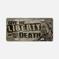 Patrick Henry Quote - Liberty or Death Aluminum Li