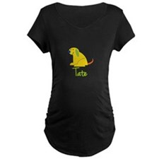 Tate Loves Puppies Maternity T-Shirt
