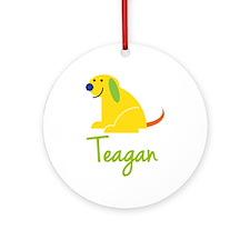 Teagan Loves Puppies Ornament (Round)