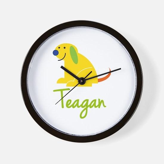 Teagan Loves Puppies Wall Clock