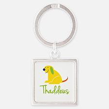 Thaddeus Loves Puppies Keychains