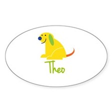 Theo Loves Puppies Decal