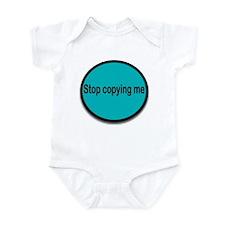 Stop copying me (blue) Infant Bodysuit