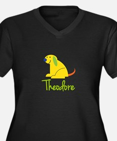 Theodore Loves Puppies Plus Size T-Shirt