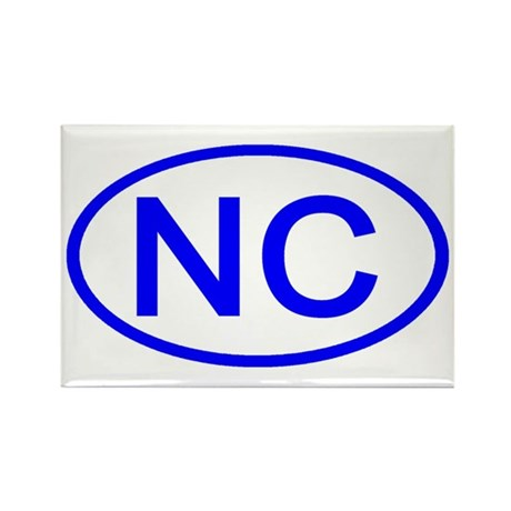 NC Oval - North Carolina Rectangle Magnet