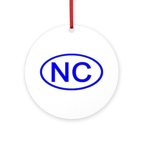 NC Oval - North Carolina Ornament (Round)