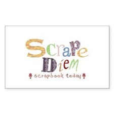 Scrape Diem (Scrapbook) Rectangle Decal