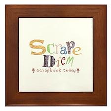 Scrape Diem (Scrapbook) Framed Tile