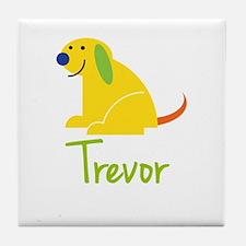 Trevor Loves Puppies Tile Coaster