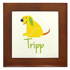 Tripp Loves Puppies Framed Tile