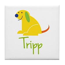 Tripp Loves Puppies Tile Coaster