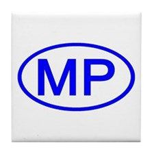 MP Oval - N. Mariana Islands Tile Coaster