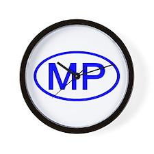 MP Oval - N. Mariana Islands Wall Clock