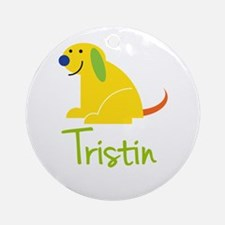 Tristin Loves Puppies Ornament (Round)
