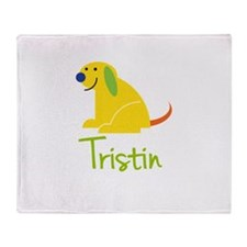 Tristin Loves Puppies Throw Blanket