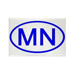 MN Oval - Minnesota Rectangle Magnet