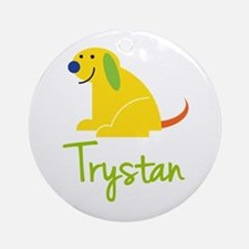 Trystan Loves Puppies Ornament (Round)