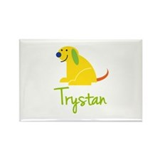 Trystan Loves Puppies Rectangle Magnet