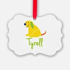 Tyrell Loves Puppies Ornament