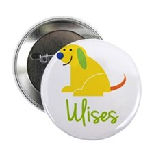 """Ulises Loves Puppies 2.25"""" Button"""