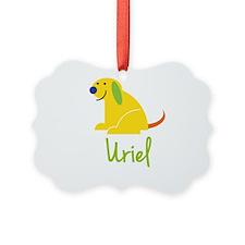 Uriel Loves Puppies Ornament