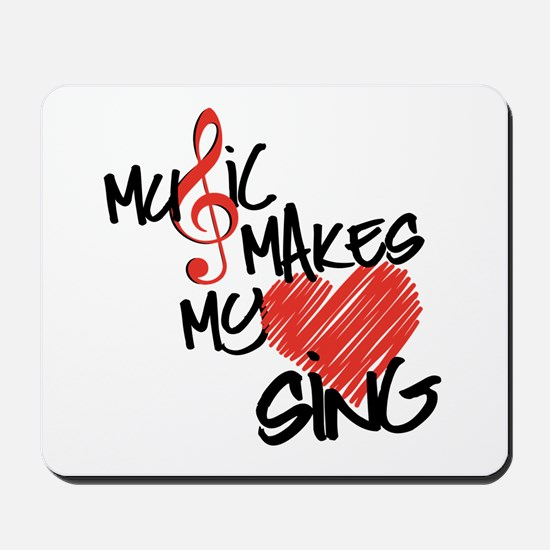 Singing Heart Mousepad