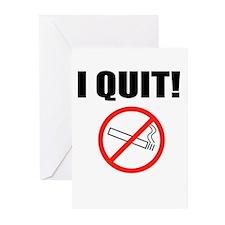 I QUIT SMOKING Greeting Cards (Pk of 20)