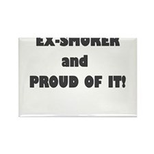 EX SMOKER AND PROUD OF IT Rectangle Magnet