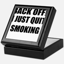 BACK OFF I JUST QUIT SMOKING (CENTER DESIGN) Keeps