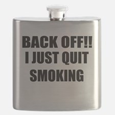 BACK OFF I JUST QUIT SMOKING (CENTER DESIGN) Flask