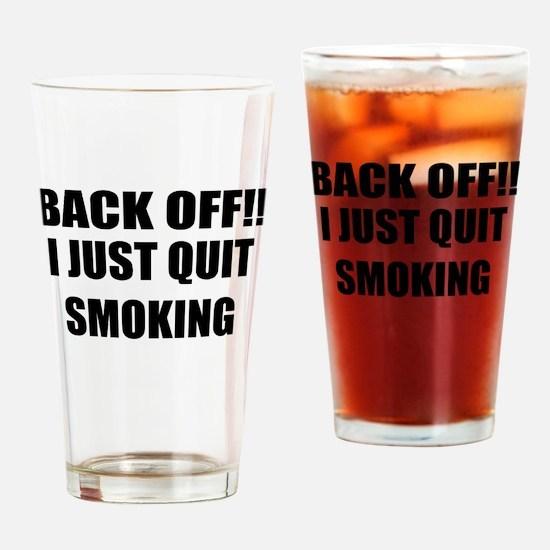 BACK OFF I JUST QUIT SMOKING (CENTER DESIGN) Drink